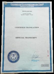 traduccion certificada español ingles portugues